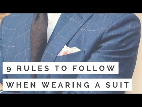 9 Rules To Follow When Wearing A Suit   How To Wear A Suit