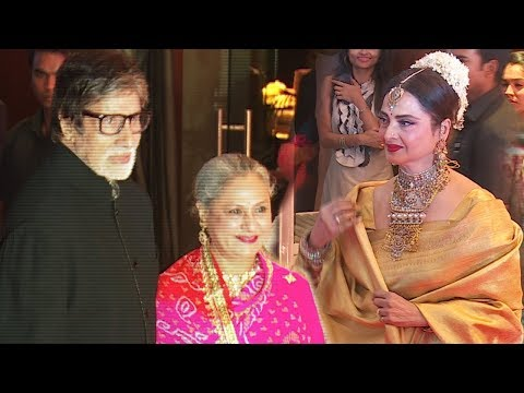Amitabh Bachchan With Jaya & Rekha family members and close friends have organized a special party..