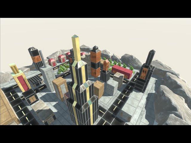 MECHA GODZILLA Destroys an Entire City in Animal Revolt Battle Simulator