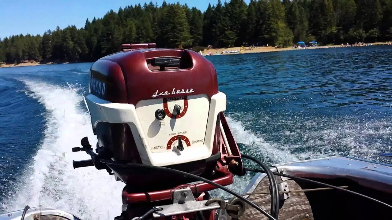 Don Johnson Motors >> 1956 Johnson 30hp Running on Lk Cushman - YouTube