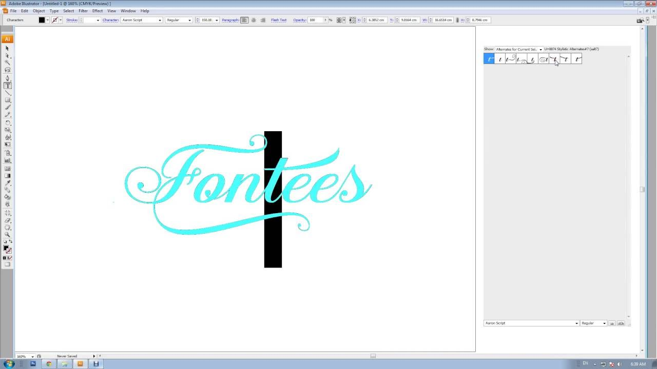 how to add glyphs in illustrator
