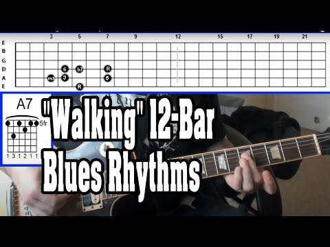 "How to Create ""Walking"" 12-Bar Blues Rhythms (Sound Fixed!!)"