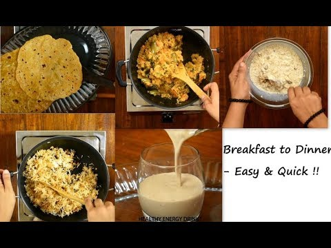 Breakfast To Dinner Ideas | Daily Routine Cooking | Indian Lunch Menu