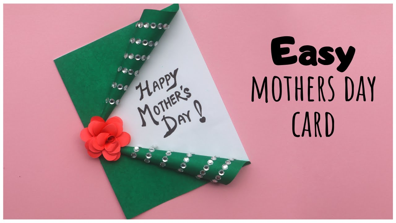 Easy Mothers Day Card Mothers Day Gifts Diy Handmade Greeting Card Youtube Handmade Greetings Greeting Cards Handmade Cards Diy Easy