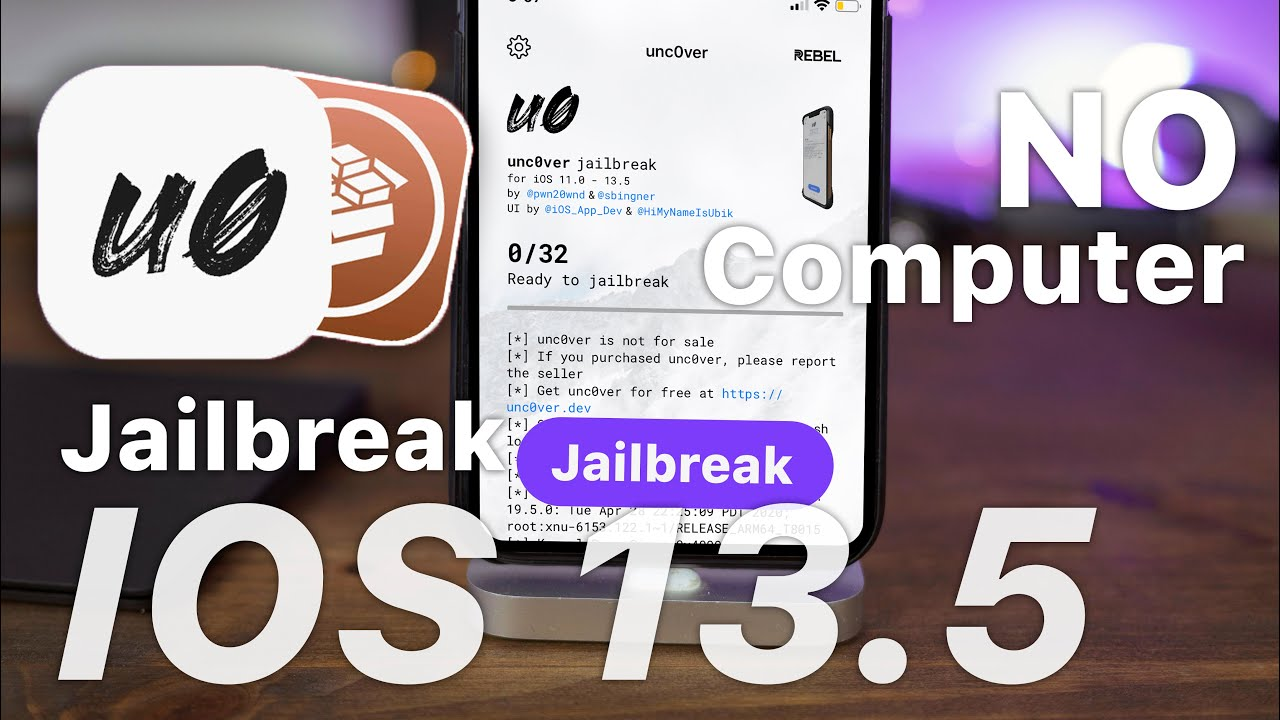 Jailbreak Unc0ver iOS 13.5 (iPhone & iPad) No Computer in Two Clicks! No Revoke!