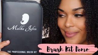 Affordable Brushes for your Makeup Kit | Malika Jafrin Brush Kit Demo