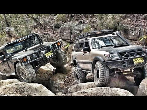 Hummer H1 vs Nissan Patrol @ Prado & 80 Series Hill Menai