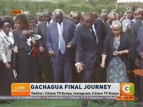 Nderitu Gachagua buried at his home , Nyeri County