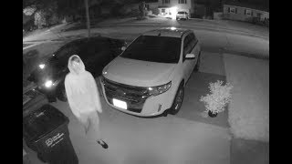 Would-Be Car Thief Spots Security Camera