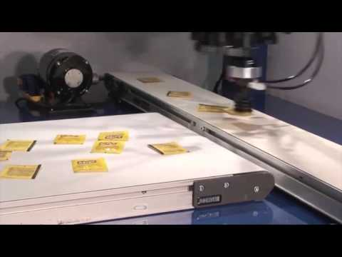 Omron's Adept Quattro delta robot demo with Aspirin packets