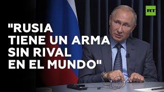 """Putin: """"Rusia tiene un arma que no tiene rival en el mundo"""""""