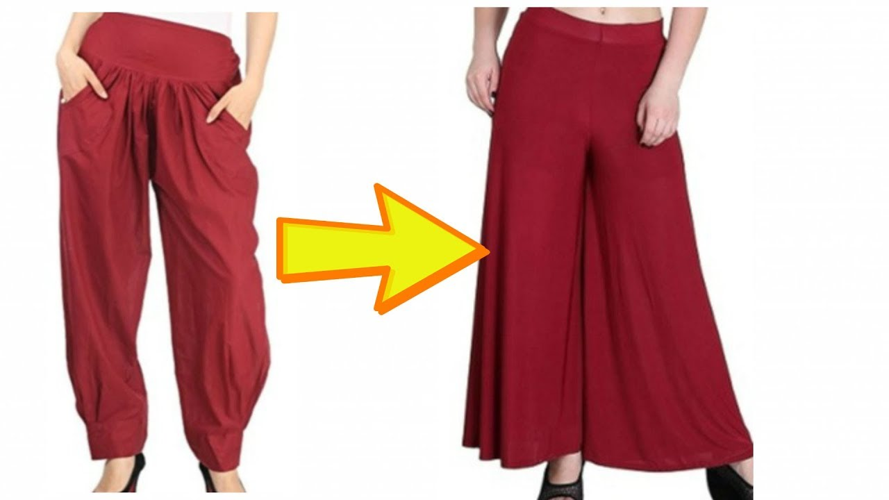 Convert Reuse Salwar Into Palazzo Pant Only In 10 Minutes Youtube