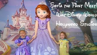 Sofia the First Meet and Greet 2017 at Disney!  Doc McStuffins and Pluto too!