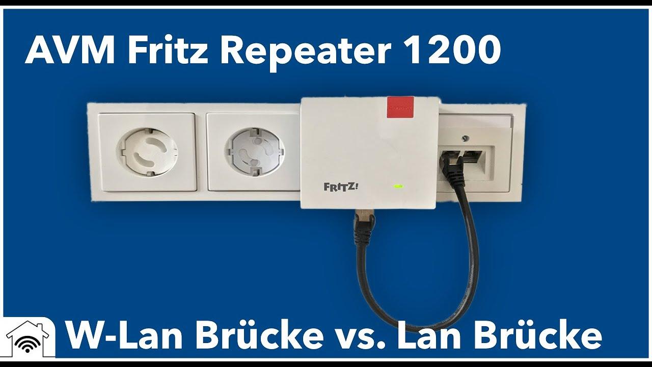 AVM Fritz Repeater 20 per LAN Brücke einrichten und mit MESH verbinden