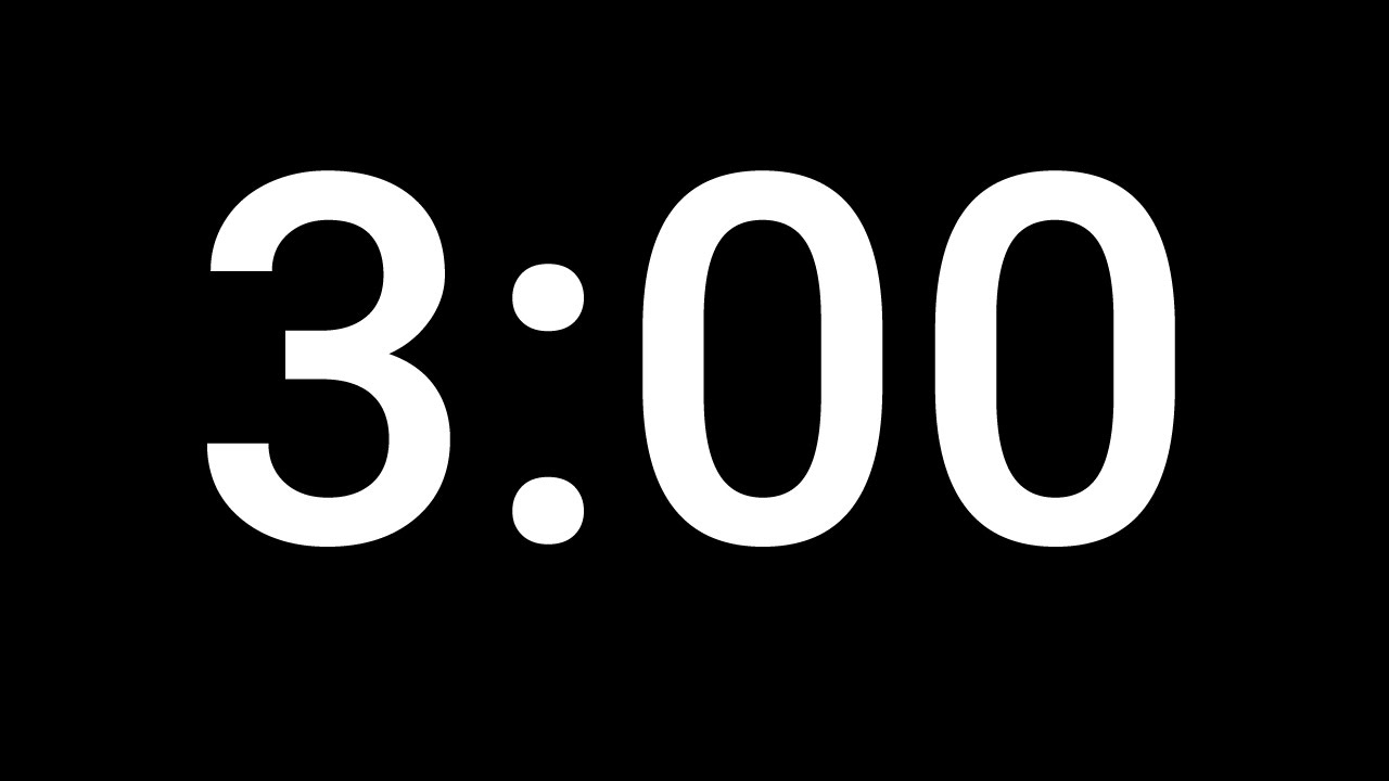 3 minute timer
