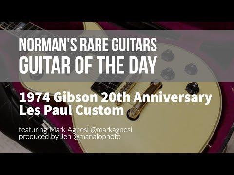 Norman's Rare Guitars - Guitar of the Day: 1974 Gibson 20th Anniversary Les Paul Custom