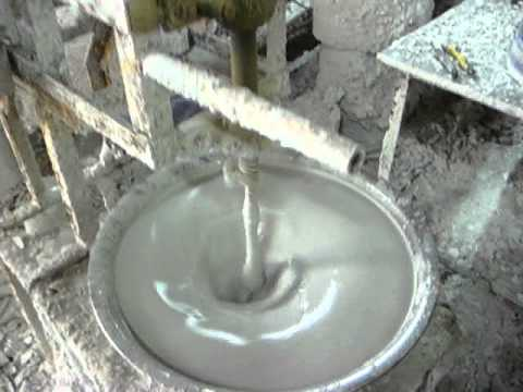 Mixing plaster for a slip-casting mold