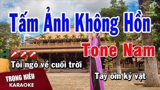 Karaoke Tấm Ảnh Không Hồn Tone Nam Nhạc Sống   Trọng Hiếu