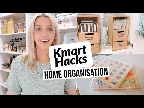 ORGANISATION HACKS/ Must-Have Kmart Products For Home Organisation/ Best Home Storage Hacks