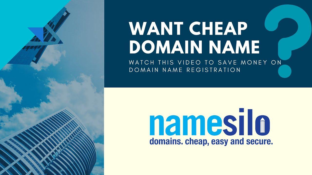 How to Register Cheap Domain Name ️ NameSilo Review - YouTube