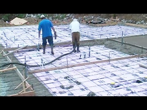 pouring a large concrete slab youtube. Black Bedroom Furniture Sets. Home Design Ideas