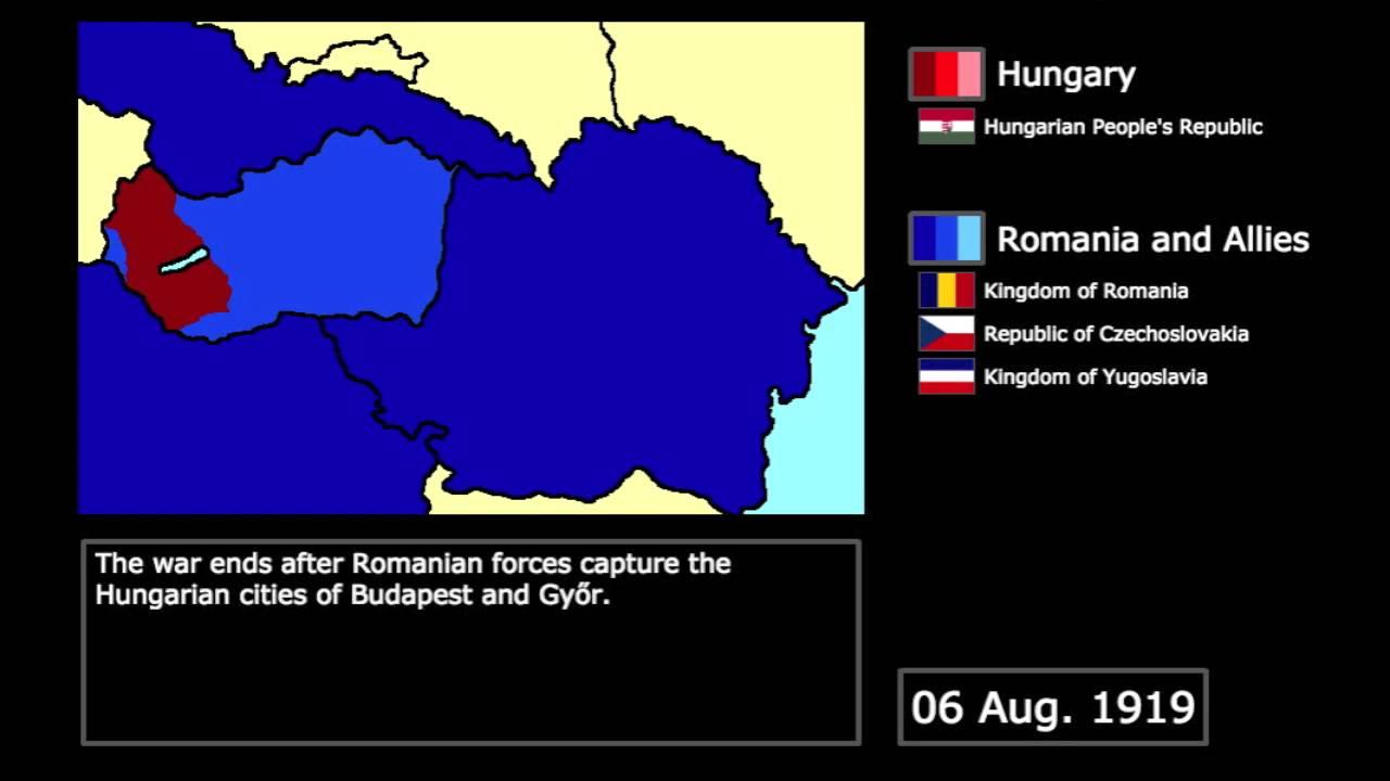 wars the hungarian romanian war 1919 every day youtube