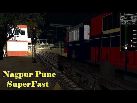 Nagpur Pune Superfast Express Arriving Manmaad Junction || Play In Open Rail