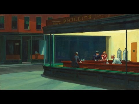visual analysis edward hopper nighthawks