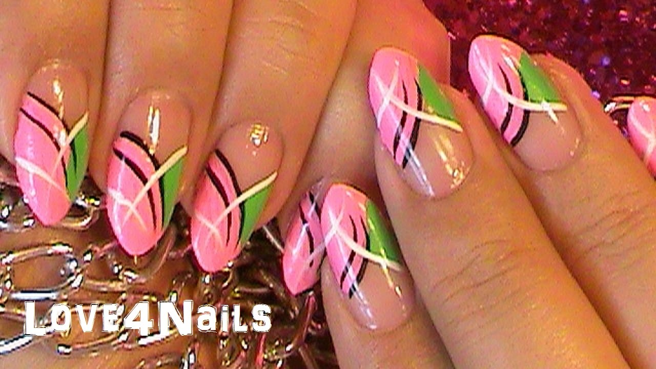 Nail Art Design Tutorial Fast & Easy - YouTube