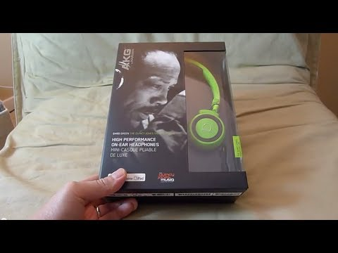 AKG Q460 Quincy Jones Signature headphones unboxing