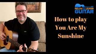 How to play You are My Sunshine-guitar lesson
