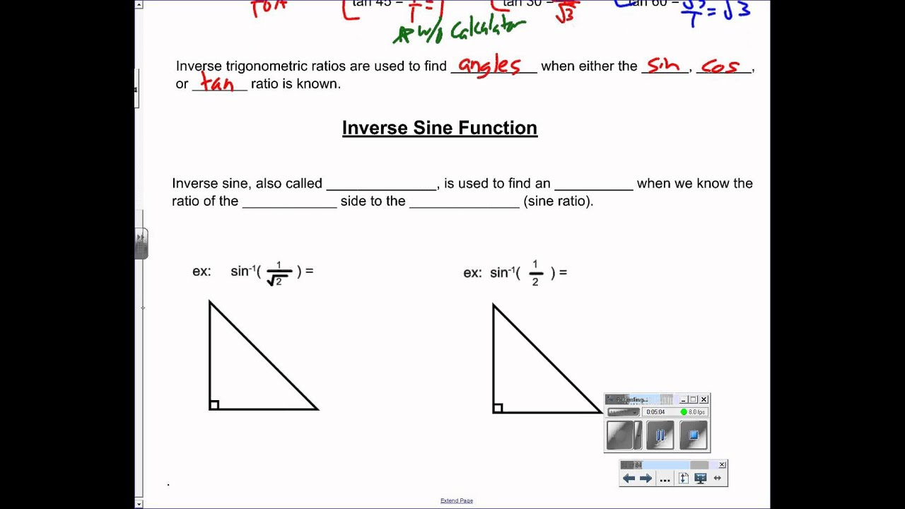 worksheet Inverse Trigonometric Ratios all grade worksheets worksheet trigonometric ratios sohcahtoa answers inverse duliziyou