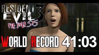Resident Evil 3 Any% Speedrun World Record 41:03