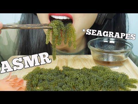 ASMR RAW SEA GRAPES (EXTREME SATISFYING CRUNCH EATING SOUNDS) | SAS-ASMR