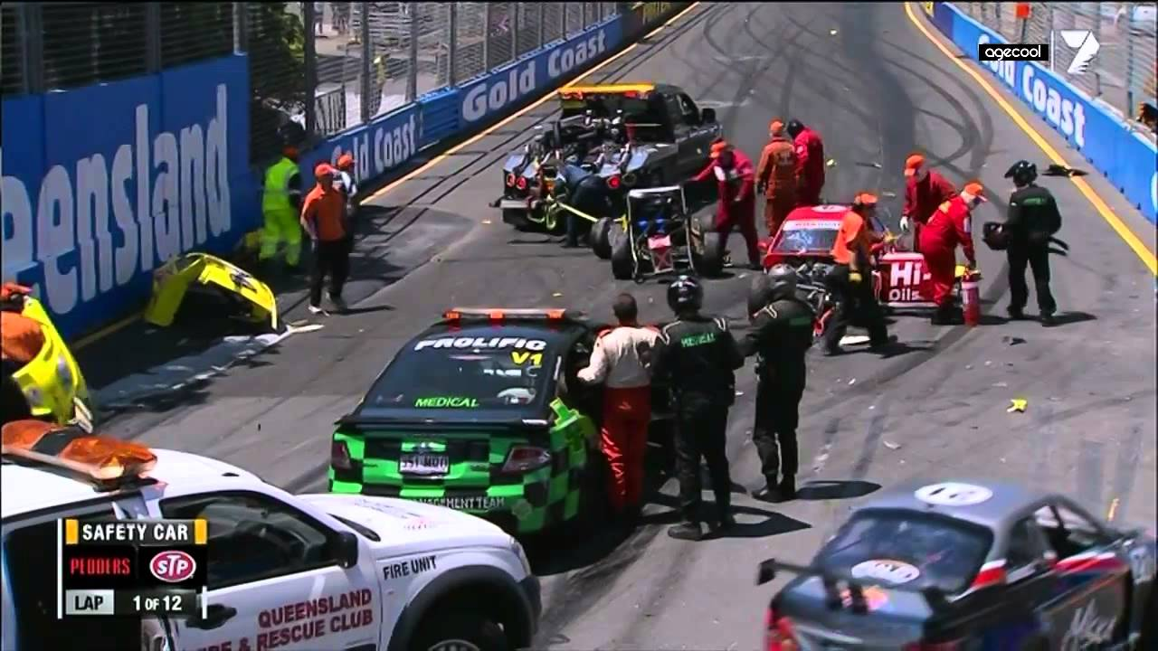 Aussie Racing Cars Gold Coast Opening Lap Crash Hd Youtube