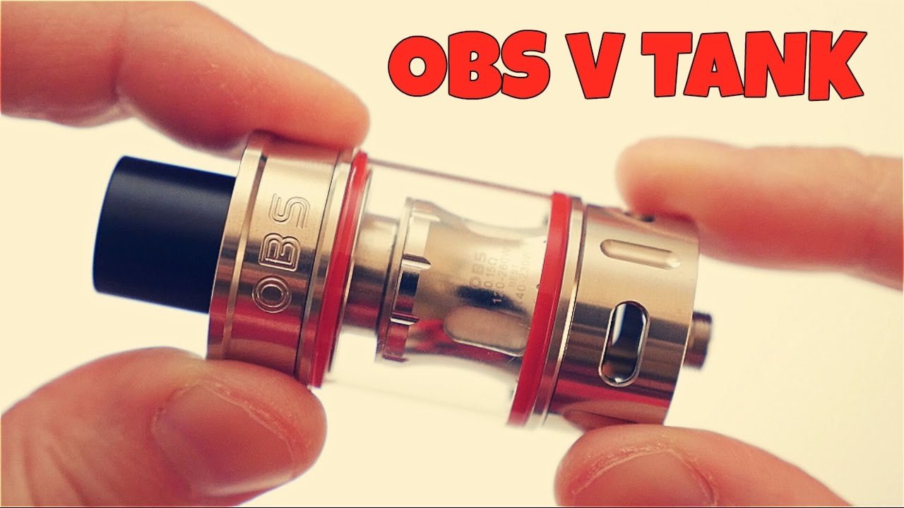 The OBS V Tank! <b>Compatible With</b> SMOK TFV8 Coils! - YouTube