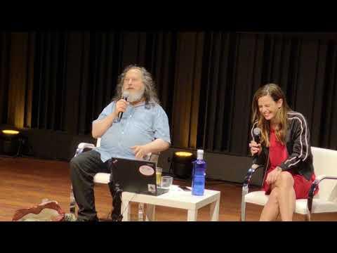 RMS Richard Stallman Talk On Maker Faire Barcelona