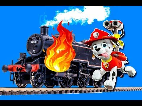 Мультик про поезда и паровозики – Щенячий патруль спасает поезд! Новое видео с игрушками