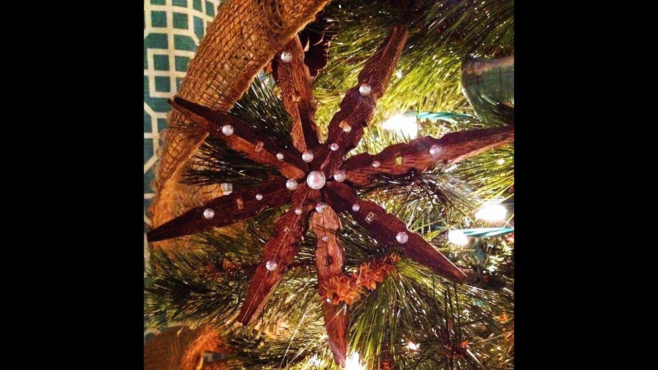 Diy Rustic Clothespin Star Ornament Tutorial Youtube