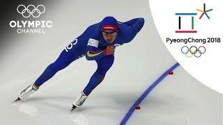 Pedro Causil fails in his last Speed Skating run | Day 14 | Winter Olympics 2018 | PyeongChang