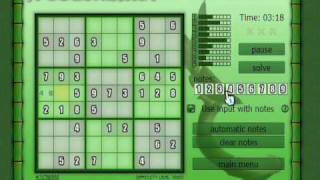 Freedoku -- free sudoku for Wii and PC