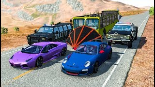 EPIC POLICE CHASES #26 - BeamNG Drive Crashes