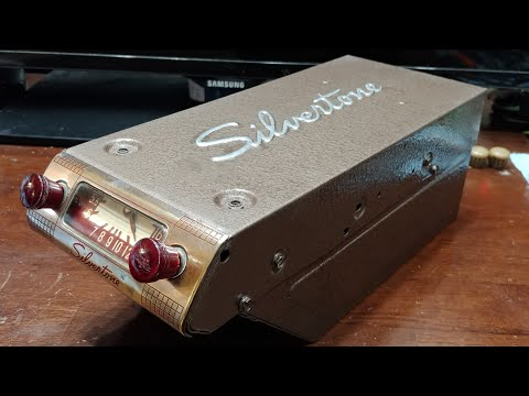 Antique 1949 Silvertone Car Radio RESTORATION - COSMETIC