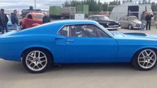 1969 Ford Mustang Boss Leaving Klondike Cruisers Car Show