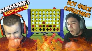 Minecraft Connect Four!! (HOT SAUCE CHALLENGE)!!  w/ Jasheeshh