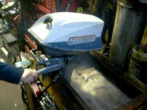 1970 18hp Evinrude Outboard Running Youtube