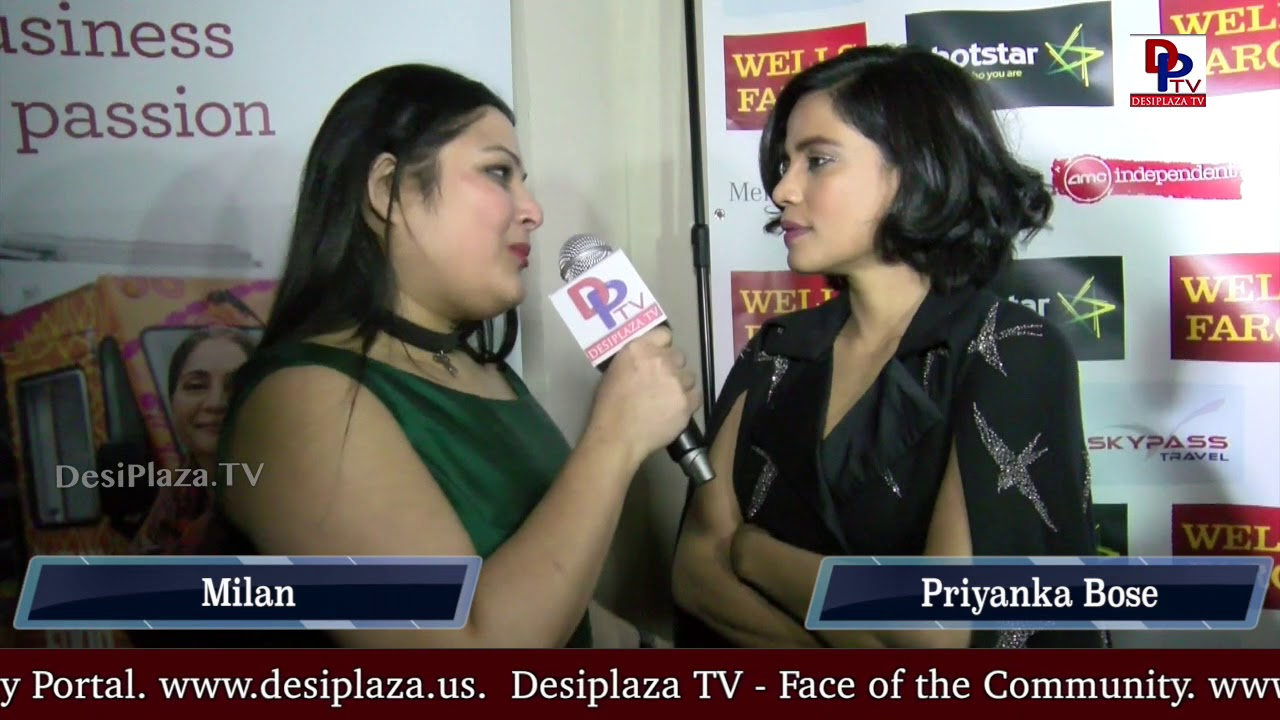Priyanka Bose, Desiplaza, Indian film actress and model speaking to  Desiplaza TV