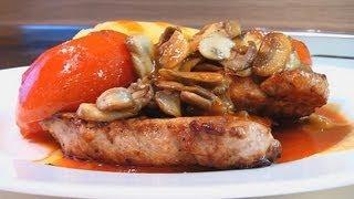Эскалоп с грибами и помидорами. Книга о вкусной и здоровой пище