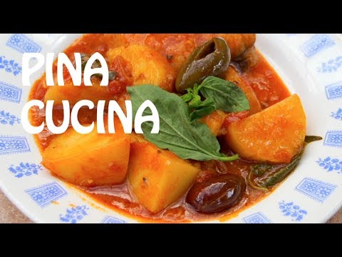 How To Cook Baccala (Italian Fish & Potatoes In Tomato Sauce) - Pina Cucina Ep. 4