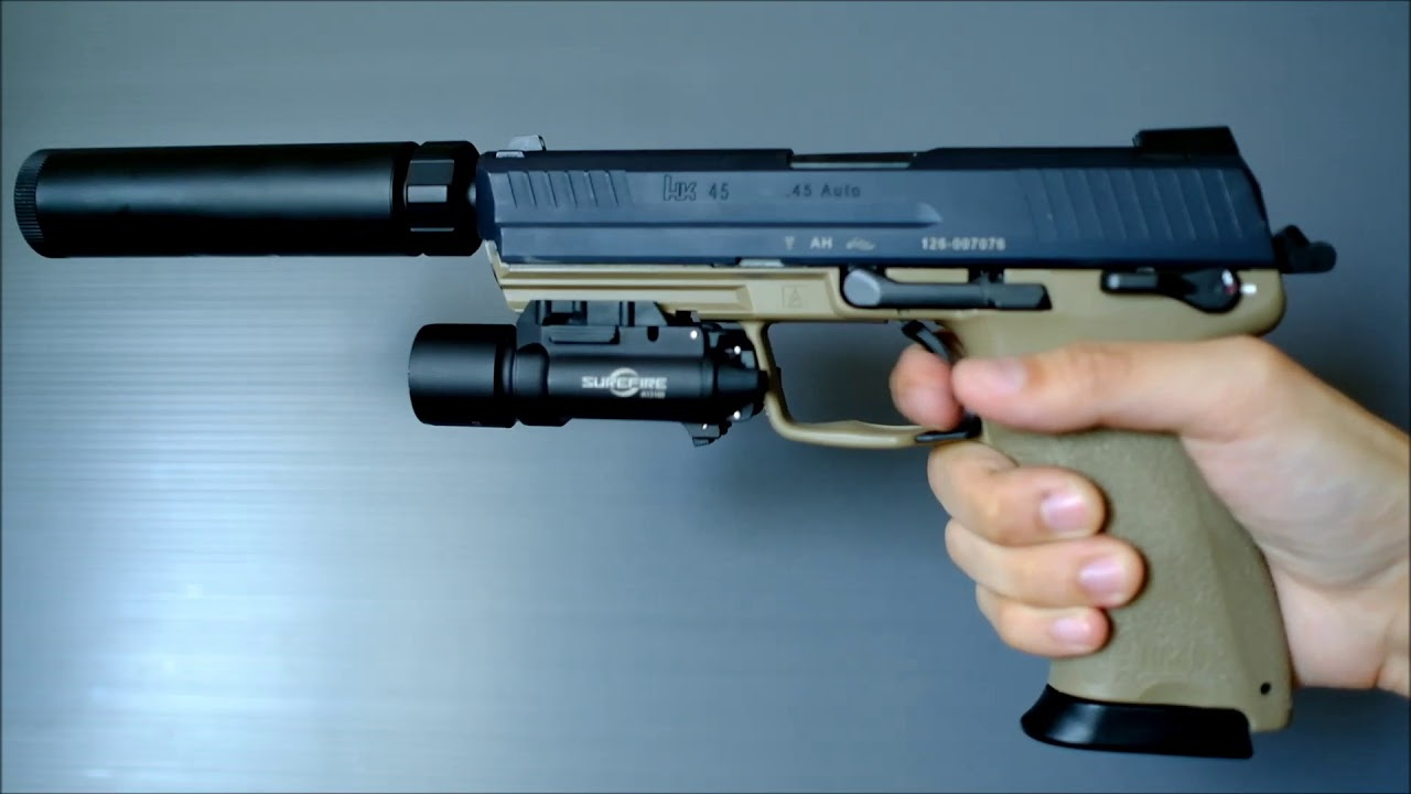 (Airsoft) Tokyo Marui HK45 Tactical with Shooter's Design Metal Slide